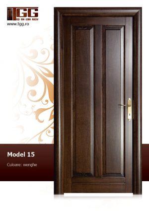 Usa pentru interior din Stejar Masiv Stratificat, finisaj wenge, dormitor, birou, ISM-015