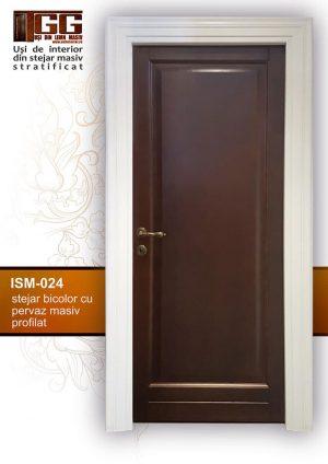 Usa pentru interior din stejar bicolor cu pervaz masiv profilat, ISM-024