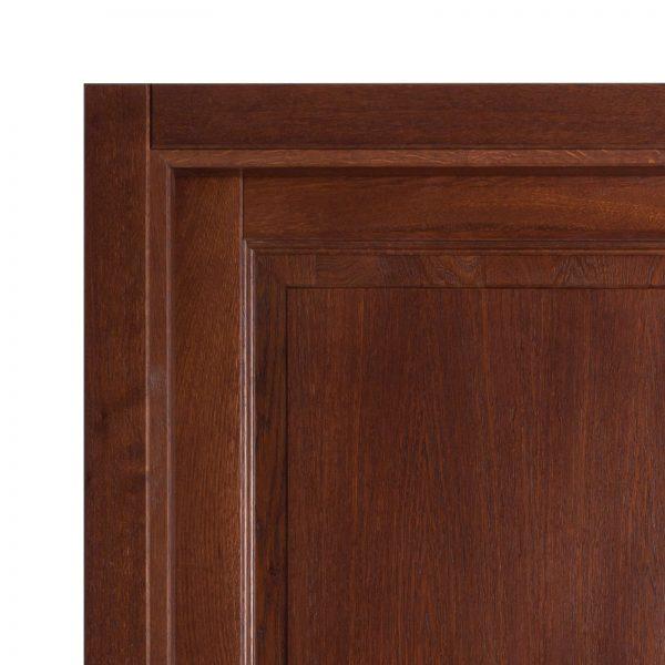 Usa de interior din Stejar Masiv Stratificat, finisaj nuc, plina, ISM-007