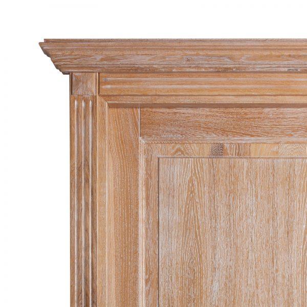 Usa de interior din Stejar Masiv Stratificat, cu pervaz capitel si cornisa, finisaj stejar albit, ISM-016PCC