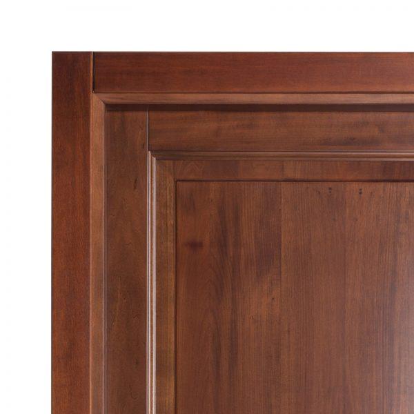 Usa de interior din Stejar Masiv Stratificat, cu pervaz drept masiv, finisaj nuc, ISM-016PP