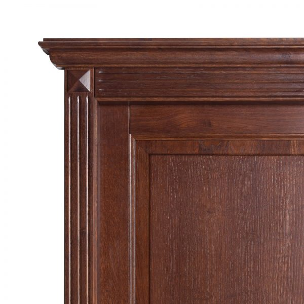 Usa de interior din Stejar Masiv Stratificat, cu pervaz capitel si cornisa, finisaj NCW, ISM-016CC