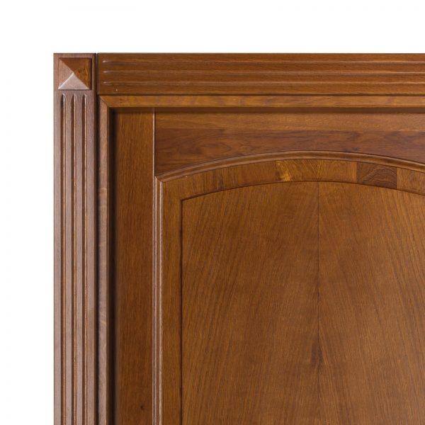 Usa de interior din Stejar Masiv Stratificat, cu pervaz capitel, finisaj antic deschis, ISM-012C