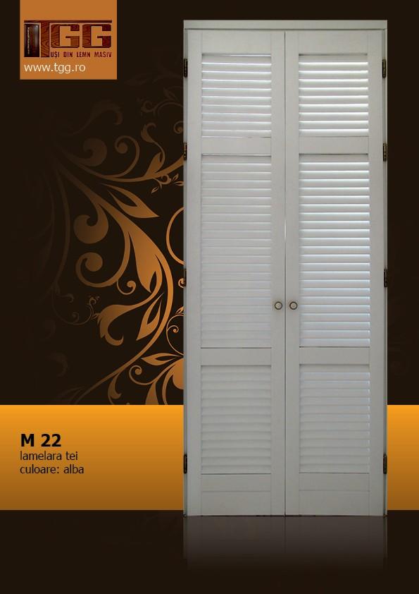 Usa pentru interior din Tei Masiv Stratificat, finisaj alb, dressing, debara, ITM-022