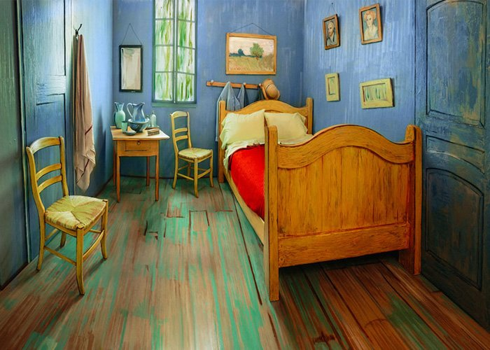 celebrul dormitor al lui Van Gogh