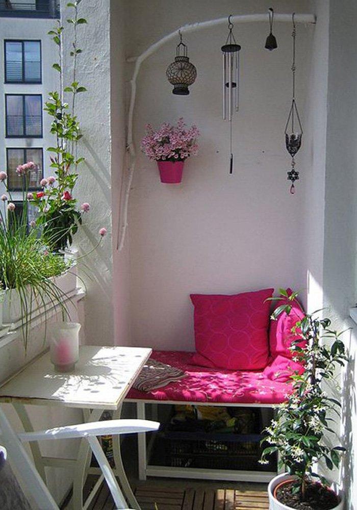 decorarea balconului
